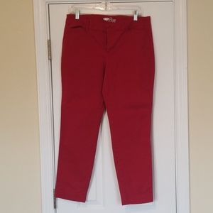 Old Navy pixie pants - red